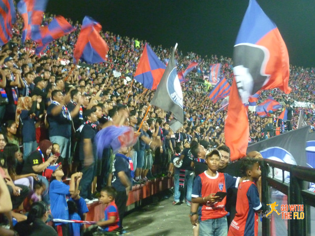 Celebrating the 3-1 victory over Kelantan F.C.