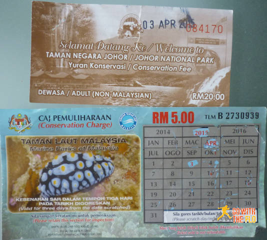The 20 MYR Conservation  Fee and 5 MYR Conservation Charge