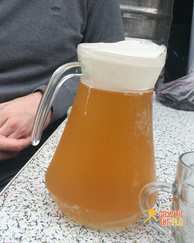 A jug of fresh Tsingtao. It will set you back around 20 RMB (~3 EUR)