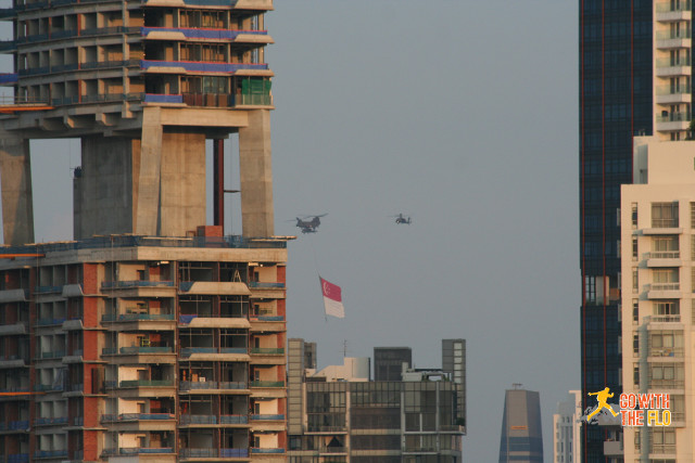 The flag being carried by a Chinook