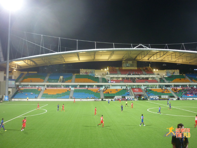 A rather empty Jalan Besar Stadium