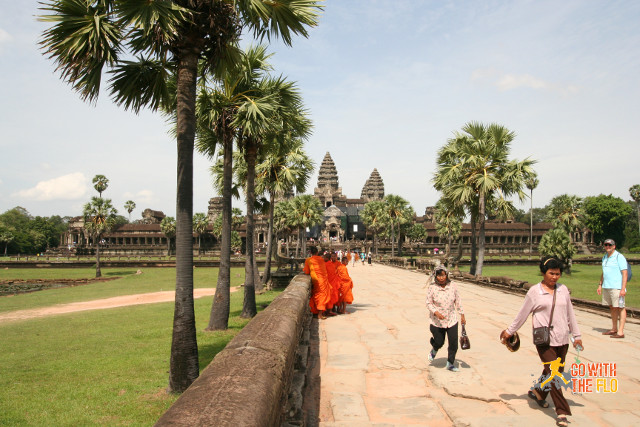 The path leading up to the mighty Angkor Wat - the largest religious building ever built