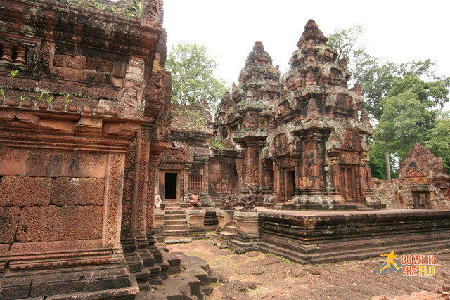Banteay Srei, slightly further away from the rest
