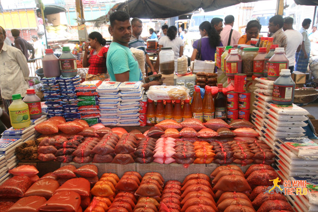 Spices at a market in Colombo