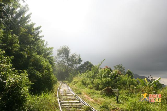Hiking along the train tracks near Ella