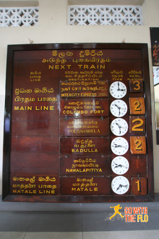 Old school timetable at Kandy