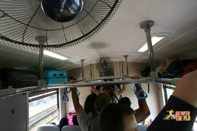 A view of unreserved Second Class. You think it is crowded?