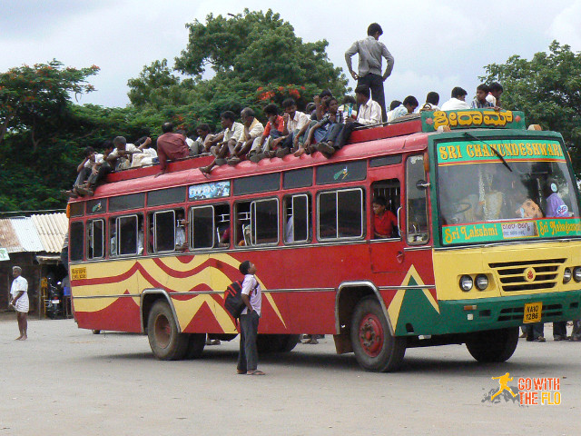 ...only to find out your bus that you couldn't book ahead was already almost full.