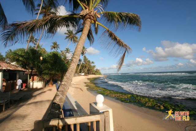 Beach access from the restaurant