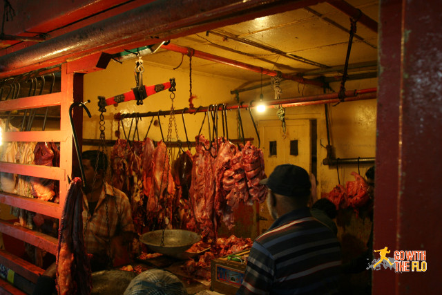Beef stall in Nuwara Eliya