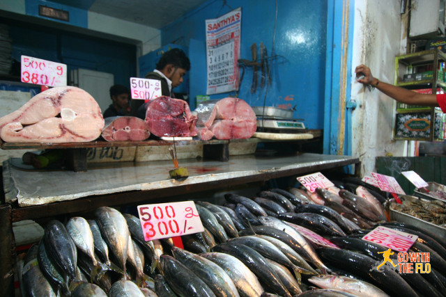 Fish stall in Nuwara Eliya