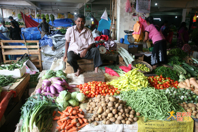 Proud stall owner in Bandarawela
