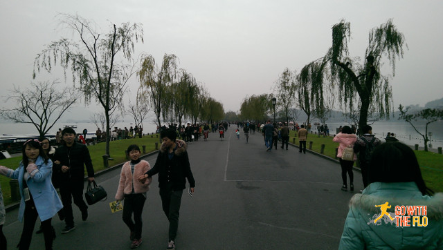 One of the various causeways, the longest being around 3km long