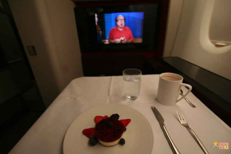 Malaysia Airlines A380 First Class - dessert