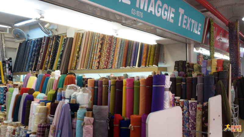 Fabric shop at People's Park
