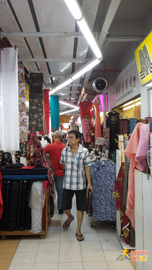 Fabric shops at People's Park