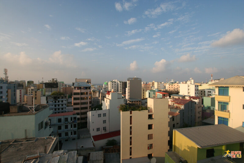 View from our hotel - Malé is one crowded city