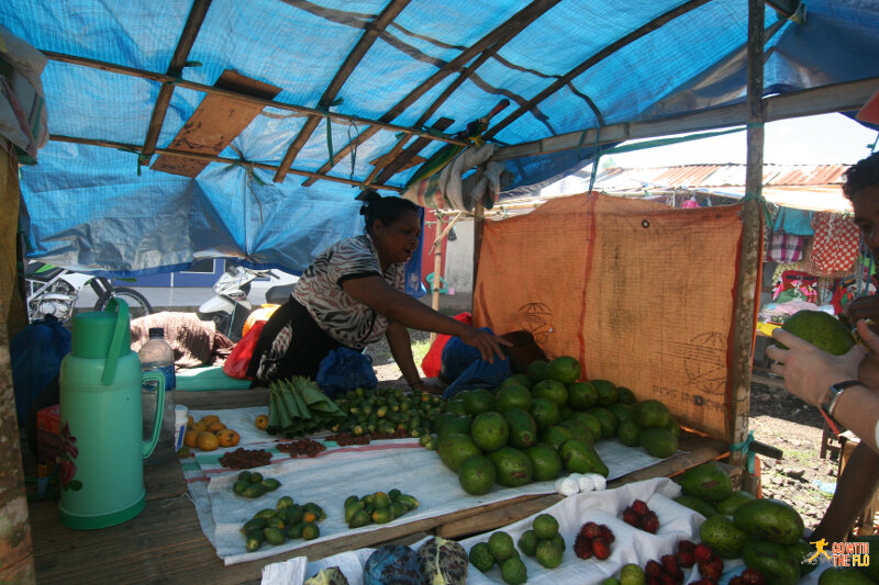 Delicious avocados at Bajawa market