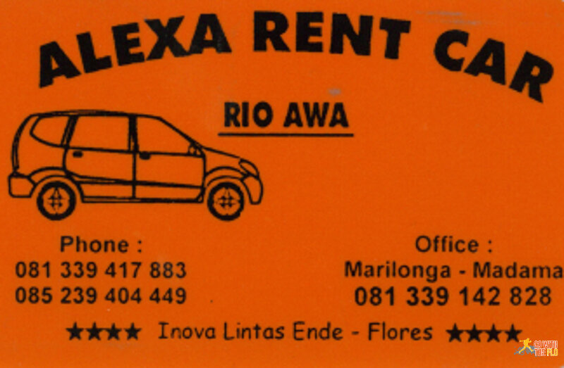 Rio's contact details (driver in Flores)