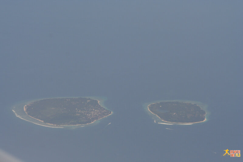 The Gili Islands off Lombok seen enroute to Flores