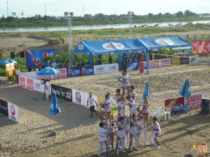 Beach Volleyball Cheerleader