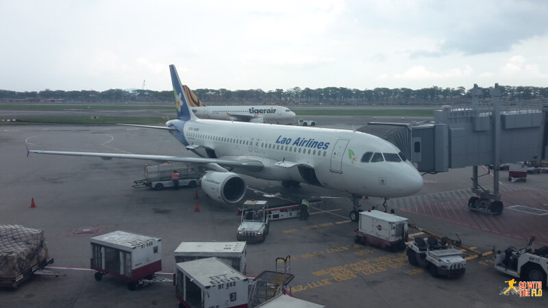 Lao Airlines A320 at Changi Airport
