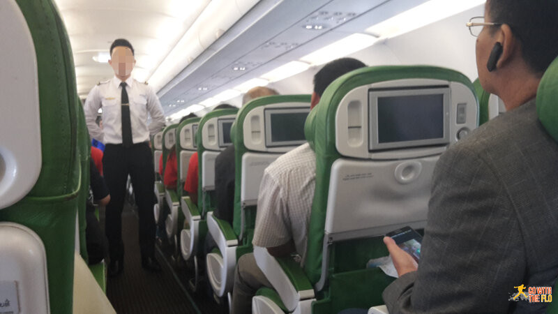 Inside the plane intended for Afriqiyah Airlines