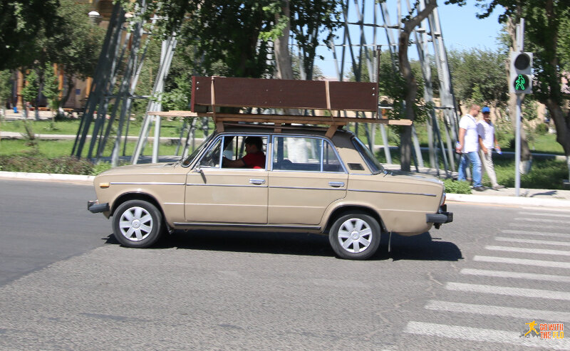 Soviet-era Ladas. Preferably with a fridge, sofa or wardrobe loaded on top.