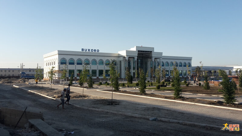 Bukhara train station (a 20mins drive outside the city)