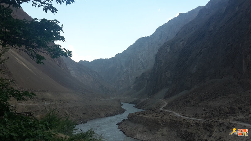 View from our last stop - Afghanistan on the other side of the river