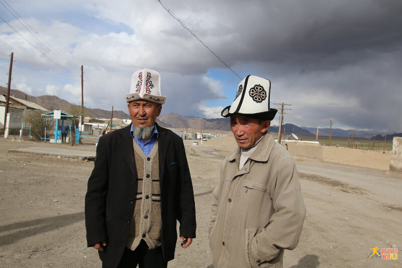 Two Kyrgyz men (ethnic Kyrgyz but Tajikistan citizen)