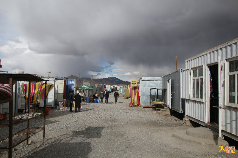 The bazaar in Murghab, made up of old containers