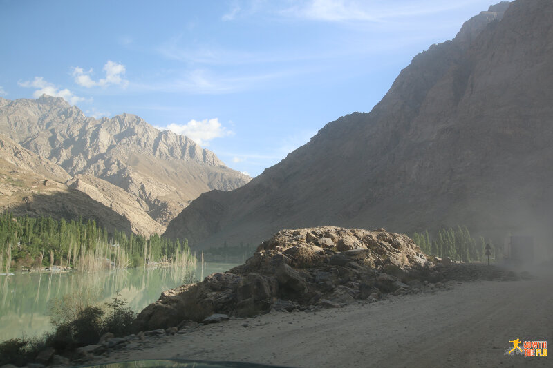 Early morning Khorog-Murghab on the M41 Pamir Highway