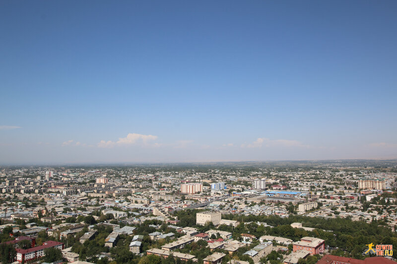 View of Osh from Sulayman Mountain