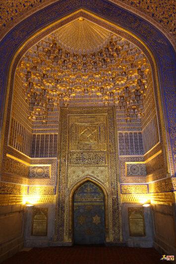 Inside Ulugbek Medressa