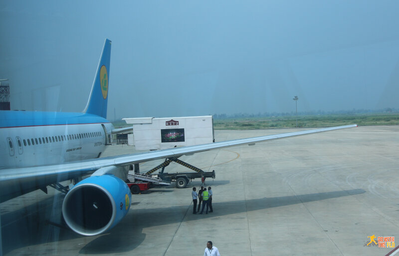 Uzbekistan Airways B763 at Amritsar Airport