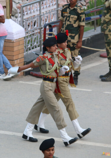 Starting with female soldiers from India...