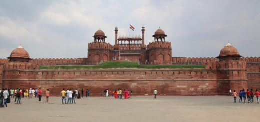 The impressive Red Fort