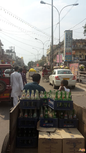 Street scene in Chandni Chowk