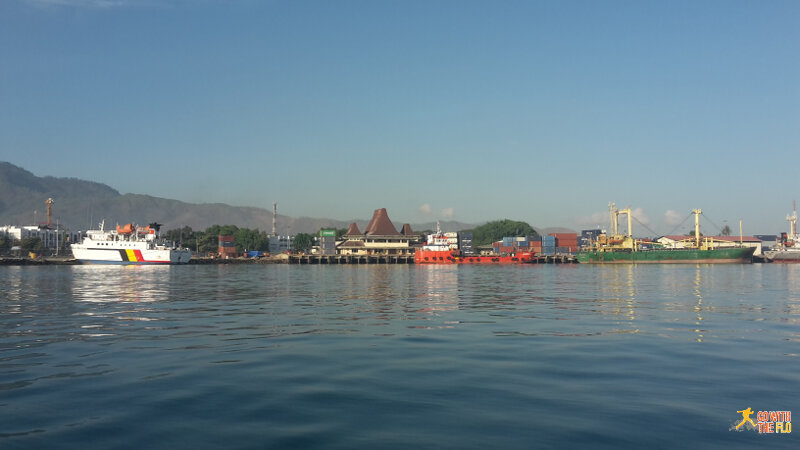 Dili port in the morning before leaving for Atauro