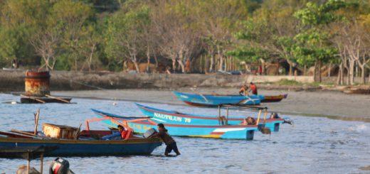 Fishermen leaving for work in Beloi, Atauro Island