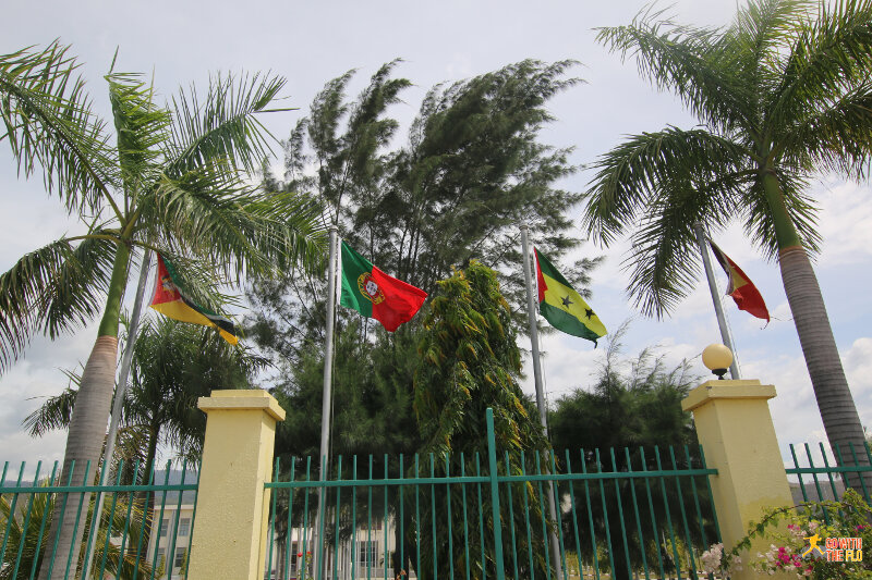 A few of the flags representing Portuguese speaking countries