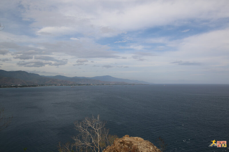 View towards Dili from the Cristo Rei