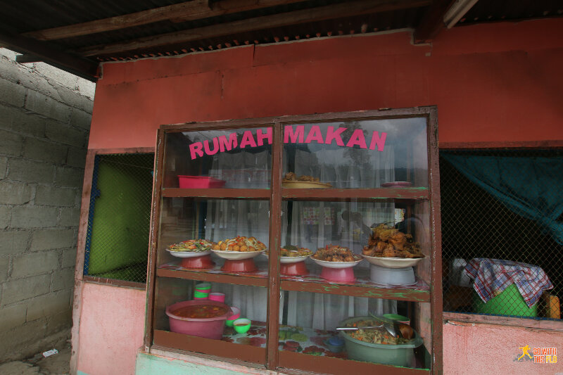 Food isn't great in East Timor - pictured here is a local restaurant, similar as you would find it in Indonesia.