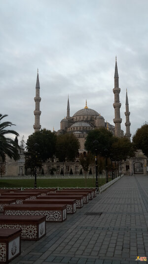 The Blue Mosque before sunrise