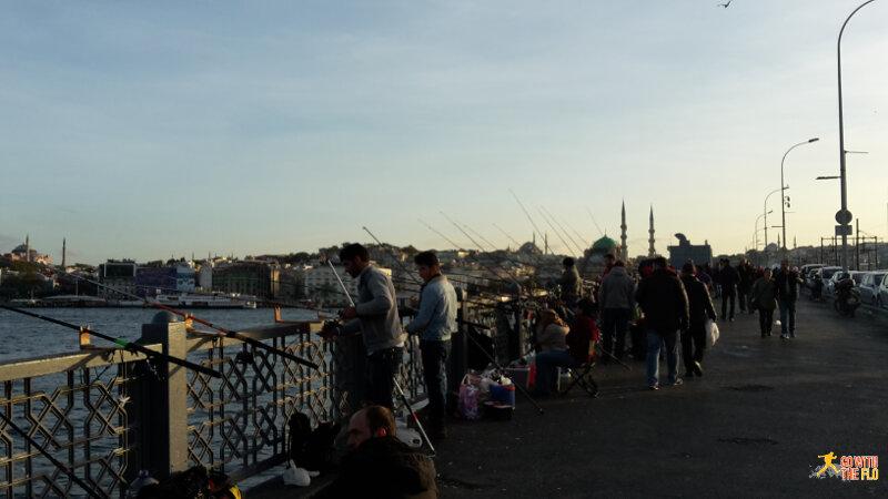 Fisherman at Galata Köprüsü