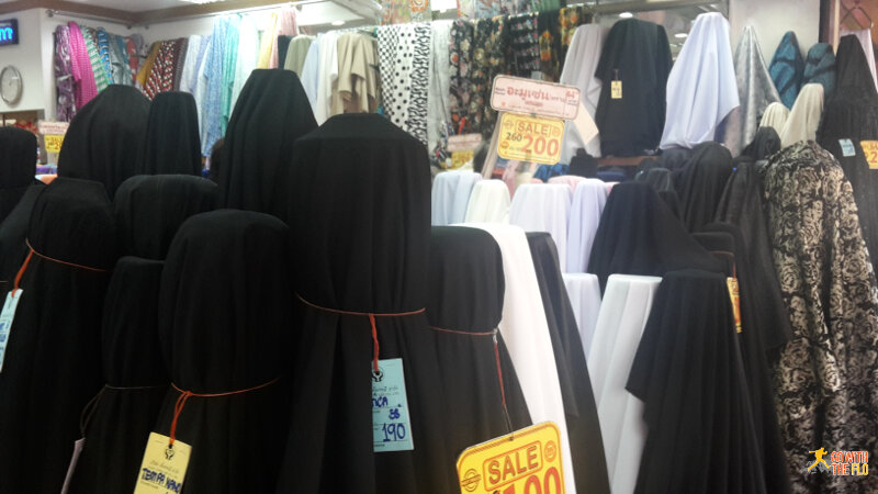 Clothes at a market in Yaowarat Road