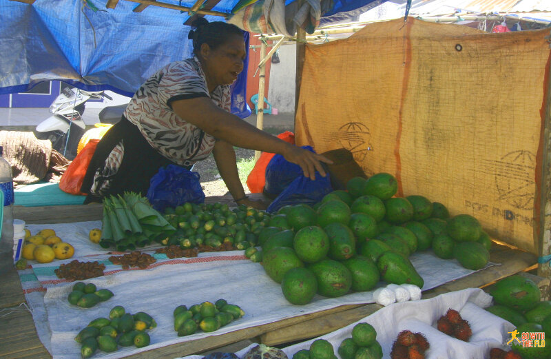 Indonesian avocado at the market in Bajawa, Flores