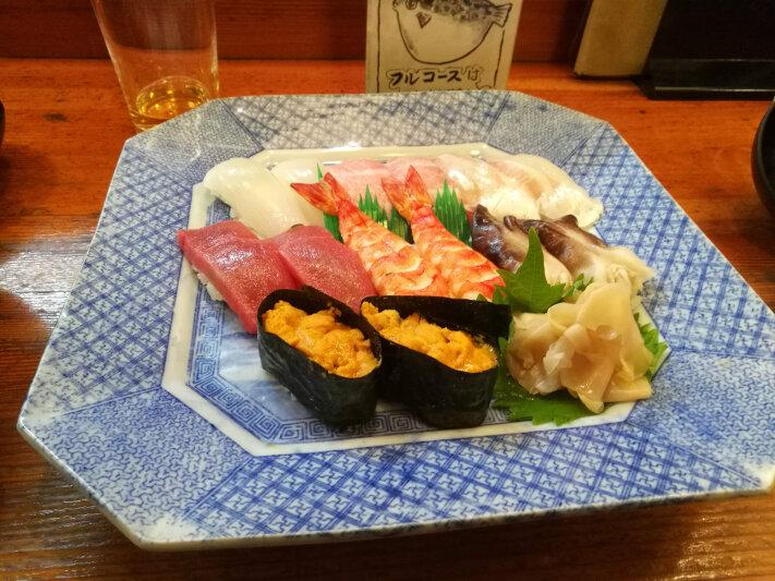 Sushi in Hiroshima