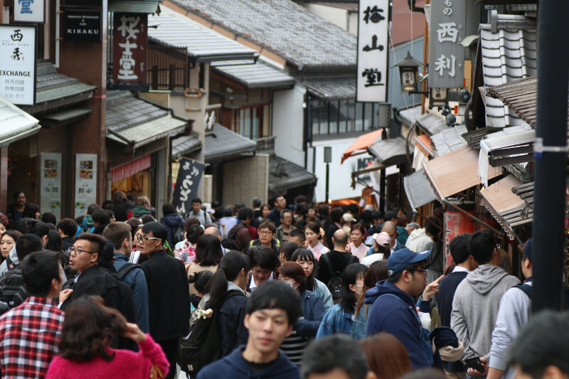 Crowds in Kyoto